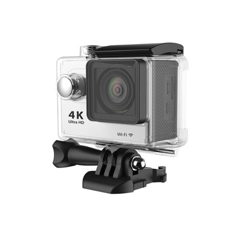 4K Waterproof Ultra HD Action Camera with Wi-Fi and Waterproof Case-Silver-Daily Steals