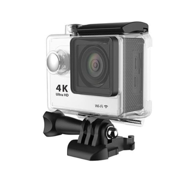 4K Waterproof Ultra HD Action Camera with Wi-Fi and Waterproof Case-White-Daily Steals