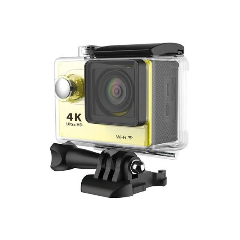 4K Waterproof Ultra HD Action Camera with Wi-Fi and Waterproof Case-Yellow-Daily Steals