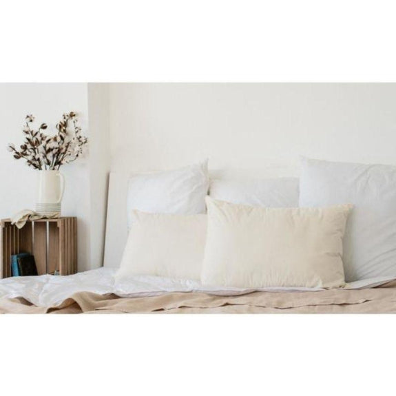 ISO-Pedic Organic Hypoallergenic Down Alternative Jumbo Pillow - 2 Pack-