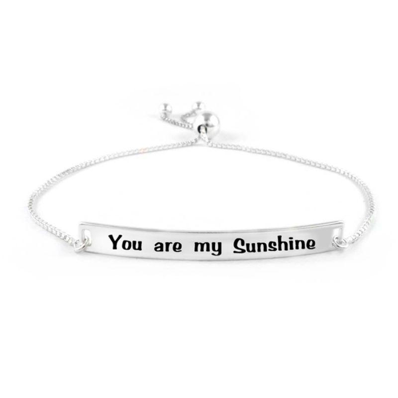 "Bracelet ajustable italien ""You Are My Sunshine"" de Verona-Daily Steals"
