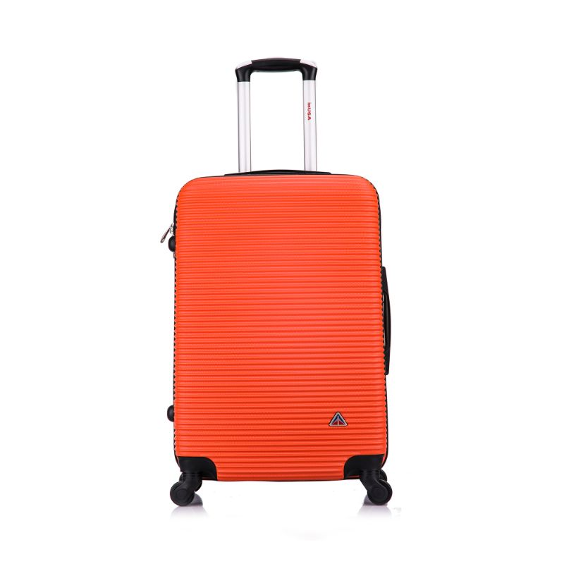 InUSA Royal Hard-Sided Spinner Luggage Cases and Sets-Orange-24''-Daily Steals
