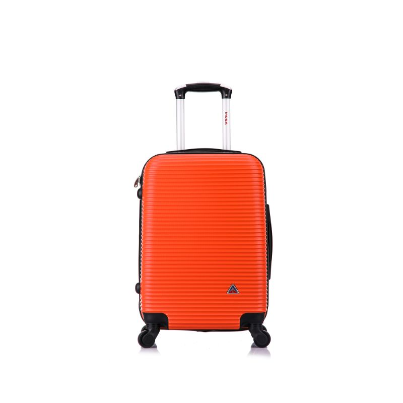 InUSA Royal Hard-Sided Spinner Luggage Cases and Sets-Orange-20''-Daily Steals