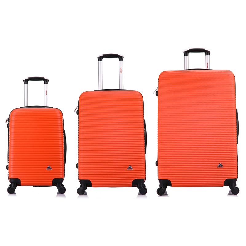 "InUSA Royal Hard-Sided Spinner Luggage Cases and Sets-Orange-20''/24''/28""-Daily Steals"