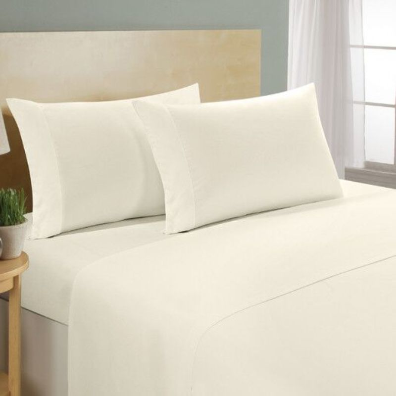 [4-Piece] Luxurious 1,000 Thread Count Egyptian Cotton Sheet Sets-Ivory-Full-Daily Steals
