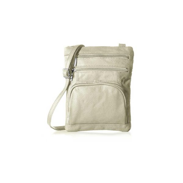 Super Soft Leather Crossbody Bag-Ivory-Daily Steals