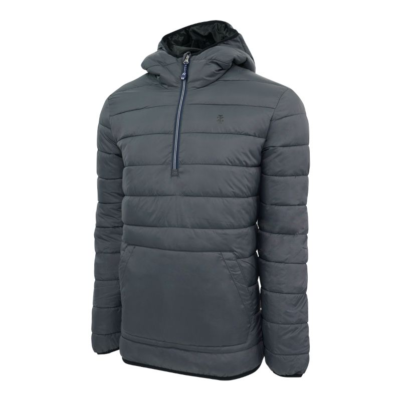 IZOD Men's Quilted 1/4 Zip Pullover Puffer Jacket-Daily Steals