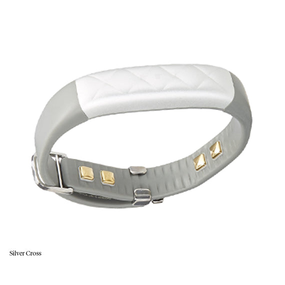 Jawbone UP3 Wireless Sleep and Fitness Tracker and Heart Rate Monitor-Silver Cross-Daily Steals