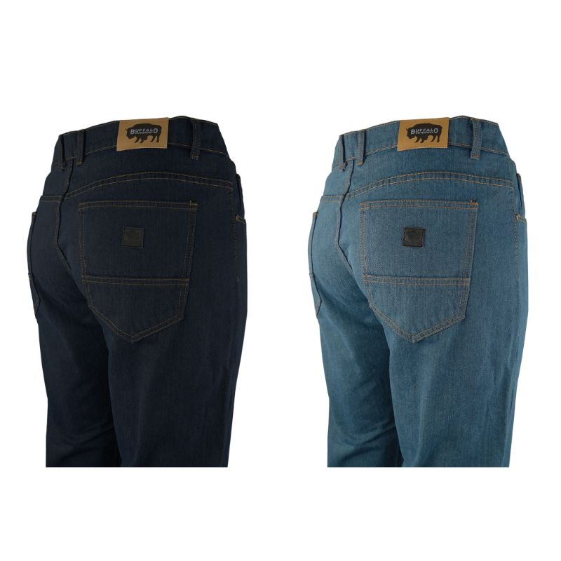 Buffalo Outdoors Mens Straight Leg Comfort Jeans Basic Work Denim Pants-Daily Steals
