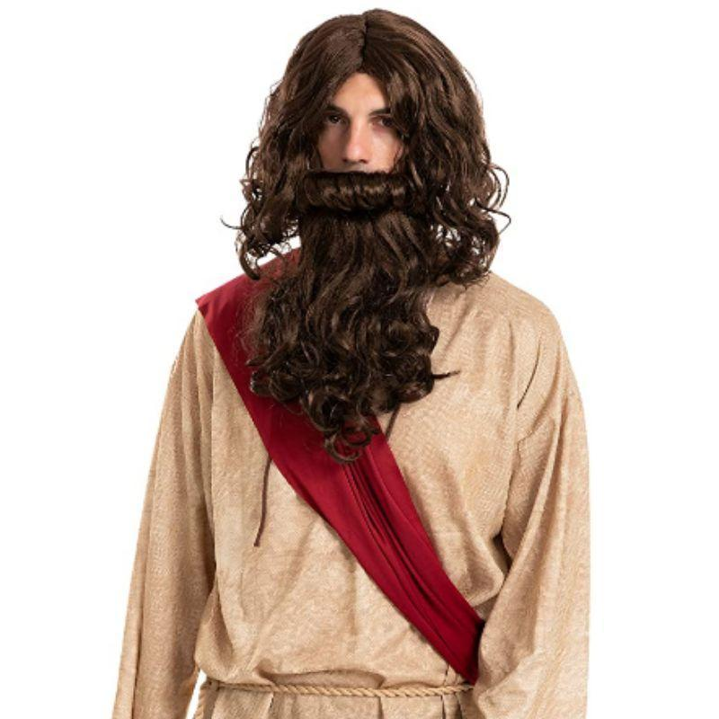 Jesus Religious Wig and Beard - Costume Accessories Set-