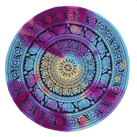 Daily Steals-Round Printed Beach Towel-Outdoors and Tactical-Tye-Dye Print-