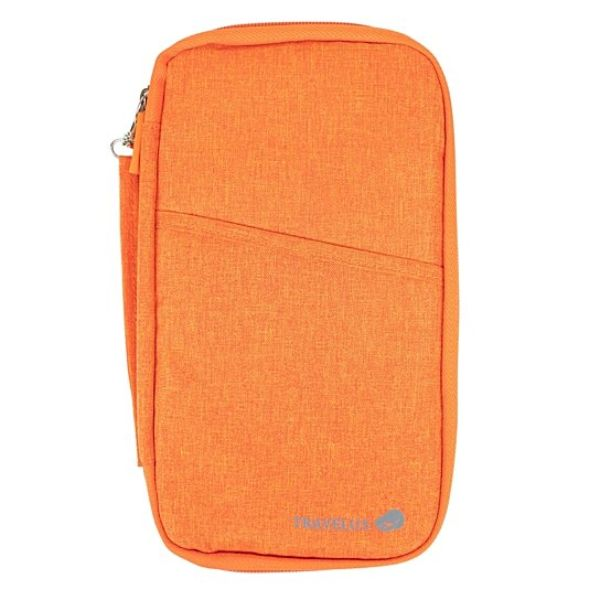 Passport Wallet Unisex Travel Organizer-Orange-Daily Steals