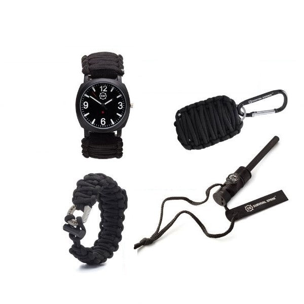 Survival Watch with Military Paracord, Compass, Whistle, & Fire Starter-Daily Steals
