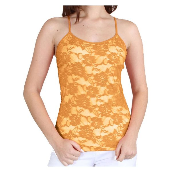 Women's Adjustable Camisole - One Size Fits Most-Mustard-Daily Steals