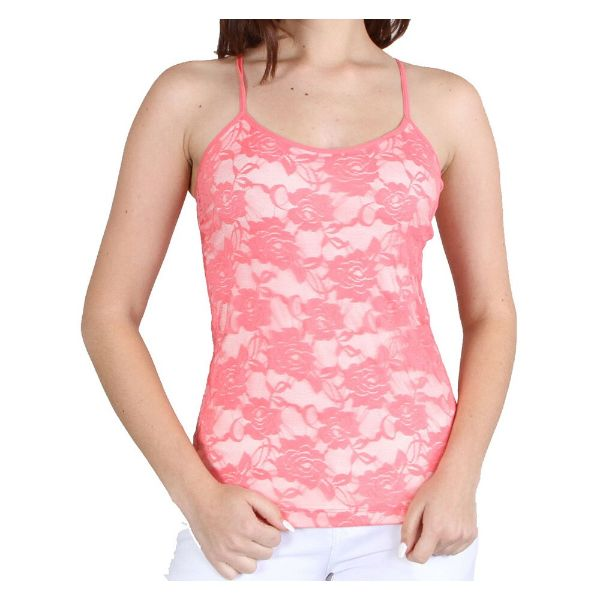 Women's Adjustable Camisole - One Size Fits Most-Coral-Daily Steals