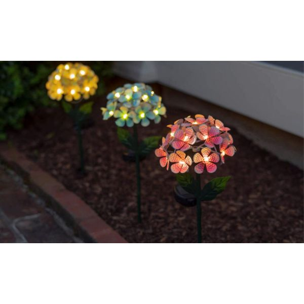 Solar LED Metal Flower Stake Lights - 1, 2, or 3 Pack-Daily Steals