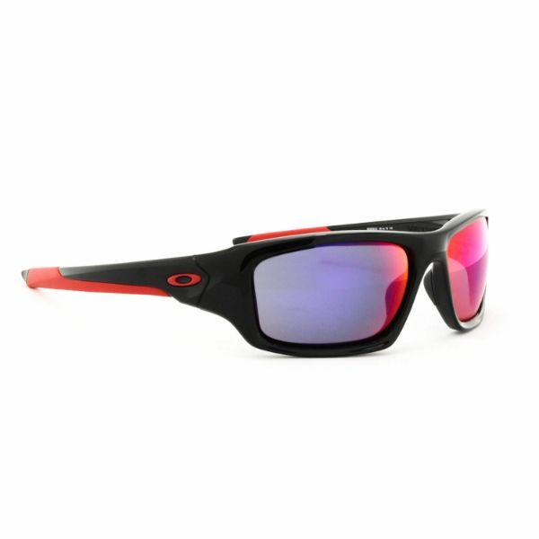 Oakley Valve Sunglasses OO9236-02 Polished Black Frame Positive Red Iridium Lens-Daily Steals