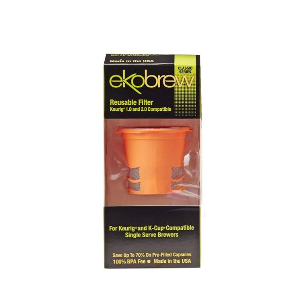 Ekobrew Classic Reusable Filter for Keurig and K-Cup Compatible Single Serve Brewers - 2 Pack-Daily Steals