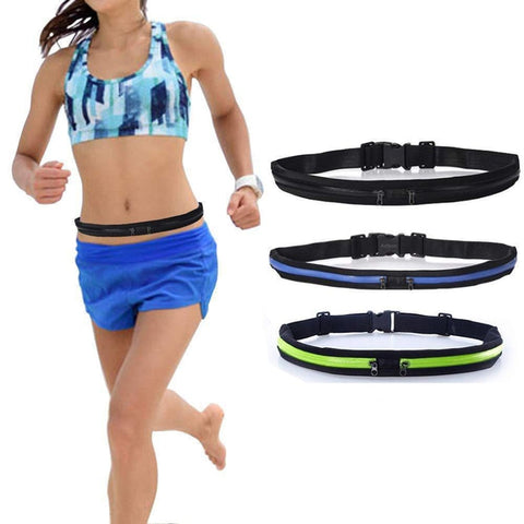 Zippered Waist Storage Fanny Pack Belt for Fitness and Jogging-Daily Steals