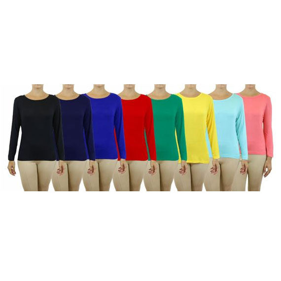 Women's Lightweight Long Sleeve Stretch Tee-Daily Steals