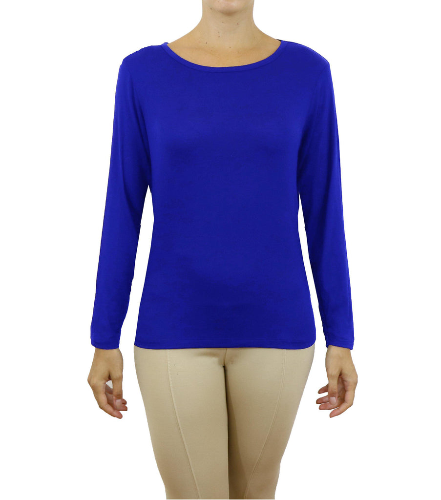 Women's Lightweight Long Sleeve Stretch Tee-Royal-X-Small-Daily Steals