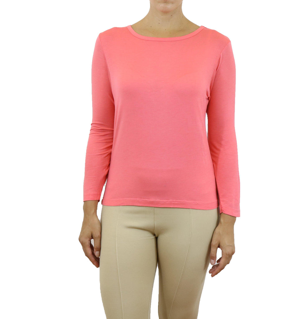 Women's Lightweight Long Sleeve Stretch Tee-Salmon-X-Small-Daily Steals
