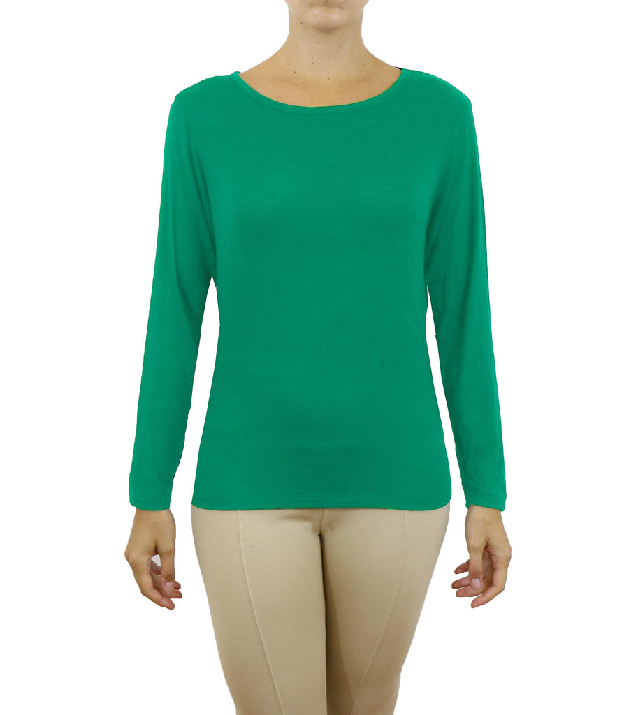 Women's Lightweight Long Sleeve Stretch Tee-Teal-Medium-Daily Steals