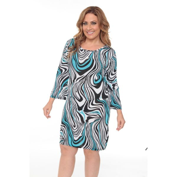 Plus 'Joanna' Dress-Black/White Zebra-XL-Daily Steals