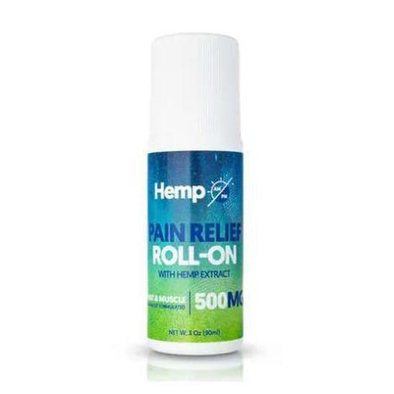 Joint and Muscle Pain Relief Roll-On with Organic Botanicals from AM/PM-500MG-