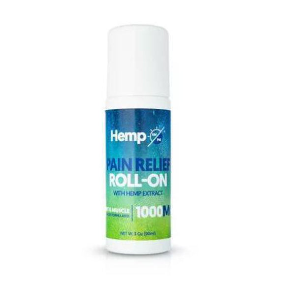 Joint and Muscle Pain Relief Roll-On with Organic Botanicals from AM/PM-1000MG-