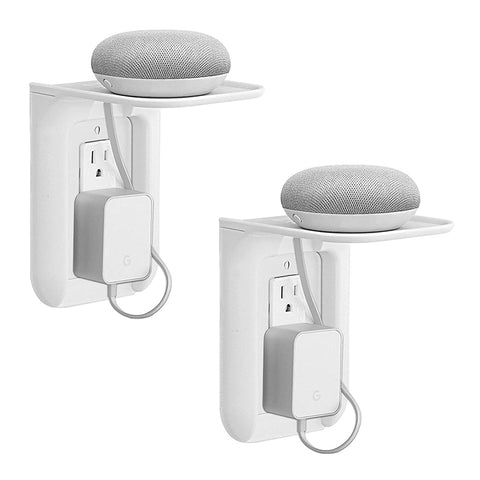 Daily Steals-White Wall Outlet Shelf - 2 Pack-Cell and Tablet Accessories-