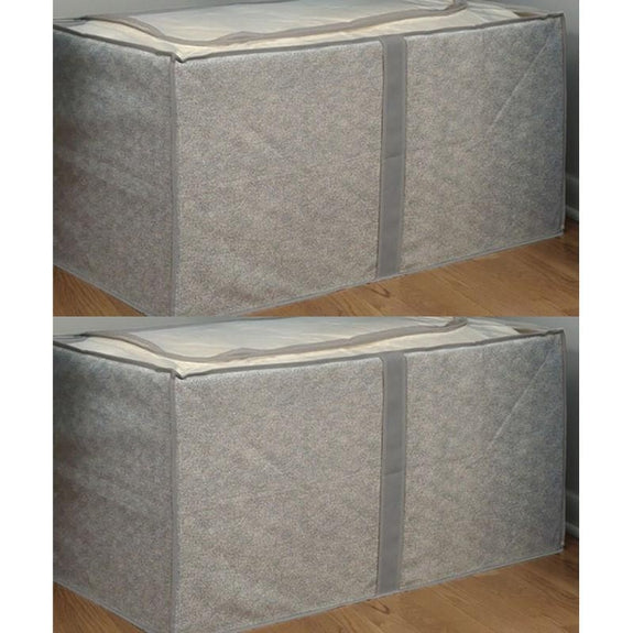 Jumbo Foldable Storage Bins-Gray-Storage-2 Pack-Daily Steals
