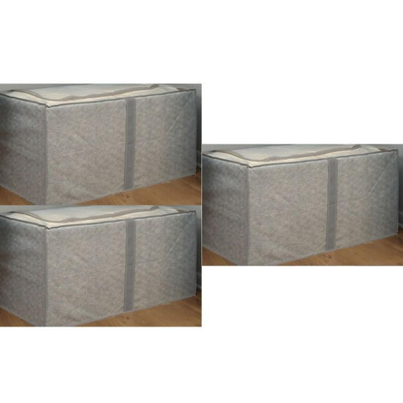 Jumbo Foldable Storage Bins-Gray-Storage-3 Pack-Daily Steals