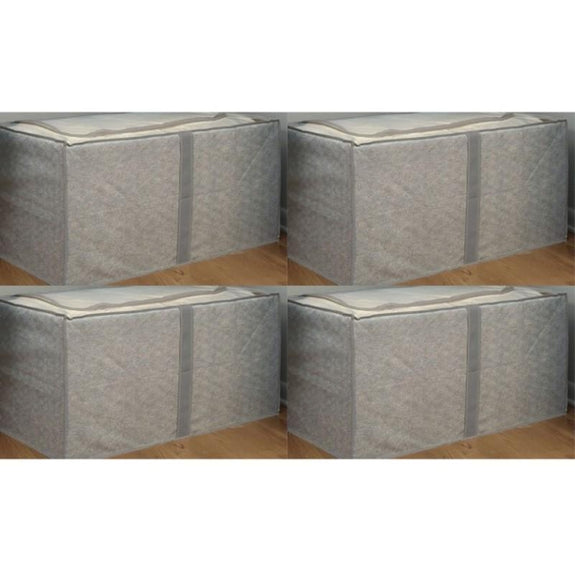 Jumbo Foldable Storage Bins-Gray-Storage-4 Pack-Daily Steals