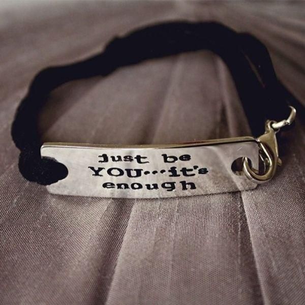 "Daily Steals-""Just be YOU… it's enough"" motivational bracelet-Accessories-"