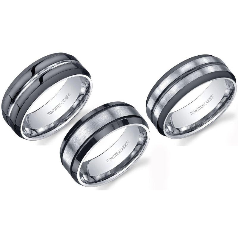 Tungsten Carbide Comfort Fit Men Ring-Daily Steals
