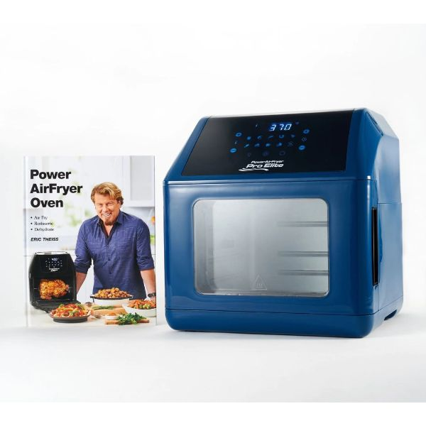 Power Air Fryer 10-in-1 Pro Elite Oven 6-qt with Cookbook-Navy-Daily Steals