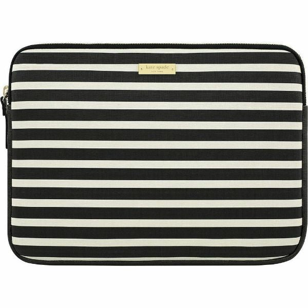 "Kate Spade Sleeve for Microsoft Surface Book 1, 2, & iPad Pro 12.9"", Black/Cream-Daily Steals"
