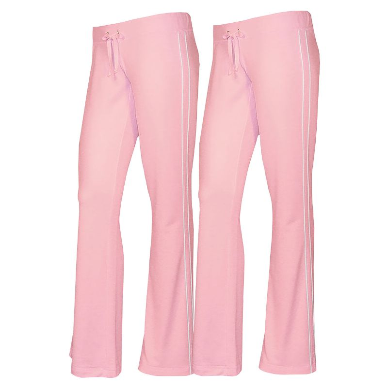 Women's French Terry Comfy Sweatpants - 1 or 2 Pack-Pink + Pink-2 Pack-S-Daily Steals