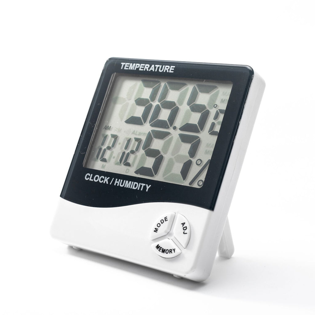 Large Display Digital Clock with Temperature & Humidity Sensor + Alarm-Daily Steals