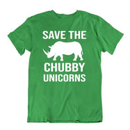 Save The Chubby Unicorns T-Shirt-Kelly Green-S-Daily Steals