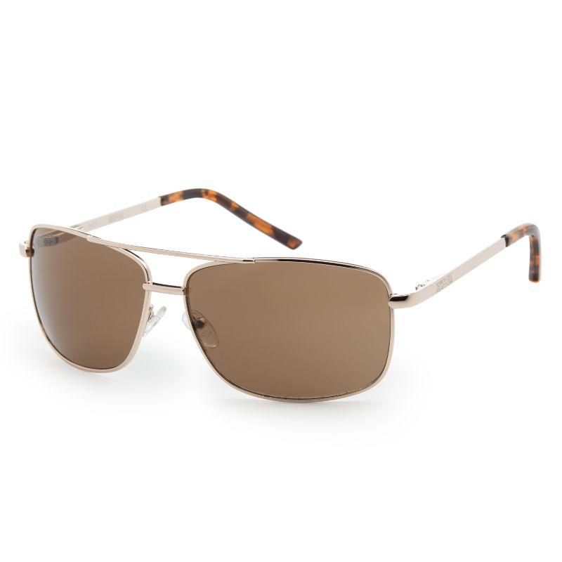 Kenneth Cole KC1076-00772 Men's Gold Metal Aviator Brown Sunglasses-Daily Steals