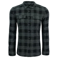 Kenneth Cole New York Men's Buffalo Long Sleeve Flannel Shirt-Black-L-Daily Steals