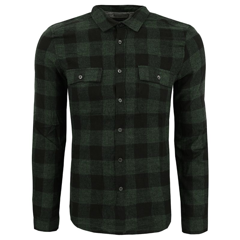 Kenneth Cole New York Men's Buffalo Long Sleeve Flannel Shirt-Pine-L-Daily Steals