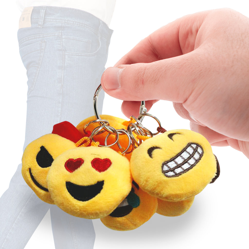 Daily Steals-[10-Pack] Ultimate Emoji Keychain Face Set-Other-