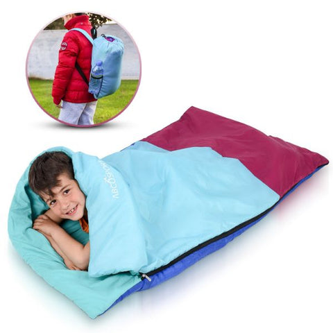 Daily Steals-Children's Junior Sleeping Bags with Backpack-Outdoors and Tactical-