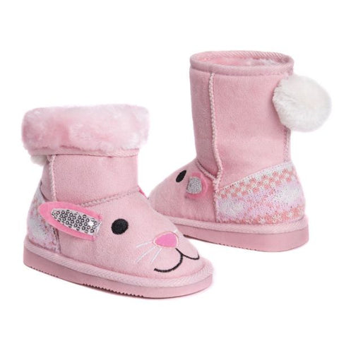 MUK LUKS Kid's Bonnie Pink Bunny Boots-8-Daily Steals