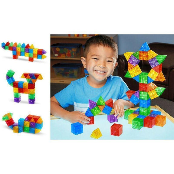 Kids Magnetic Building Blocks Tile Set Eyes Series 45 Piece-