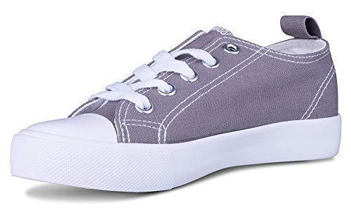 Daily Steals-Kids Slip On Canvas Shoes-Accessories-Grey / White-1 Little Kids-