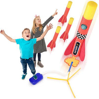 Kids' Toy Rocket Launcher with 4 Foam Rockets & Launch Pad-